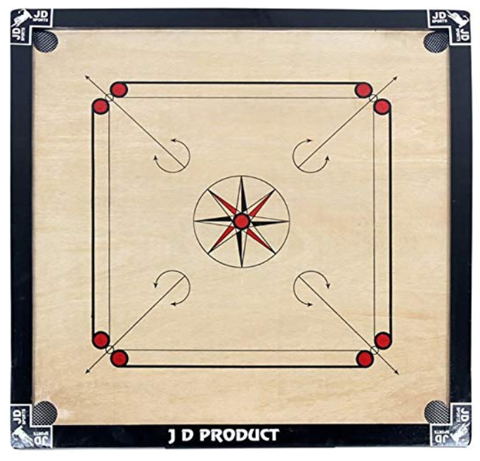 J D Sports Full Carrom Board