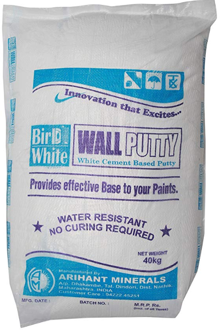 Bird White Synthetic Cement Based Wall Putty