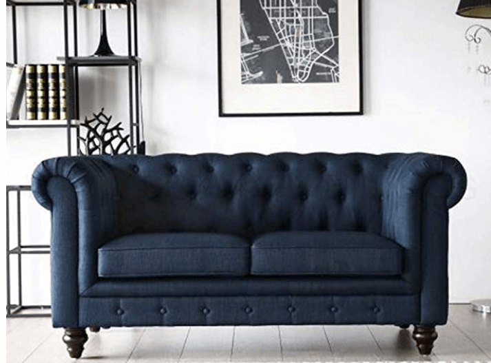 Casafurnish Scala Two Seater Chesterfield Sofa