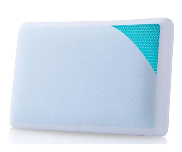 Grin Health Ultra Soft Cooling Gel Pillow with Reversible Memory Foam
