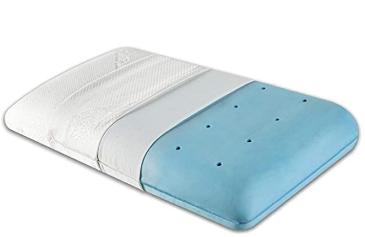 "The White Willow Orthopedic Memory Foam Cooling Gel Neck & Back Support Sleeping Bed Pillow (22"" L x 16"" W x 5"" H)"