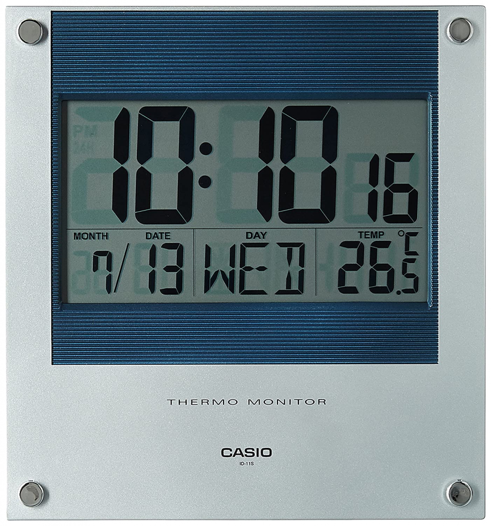 Casio Square Resin Digital Wall Clock