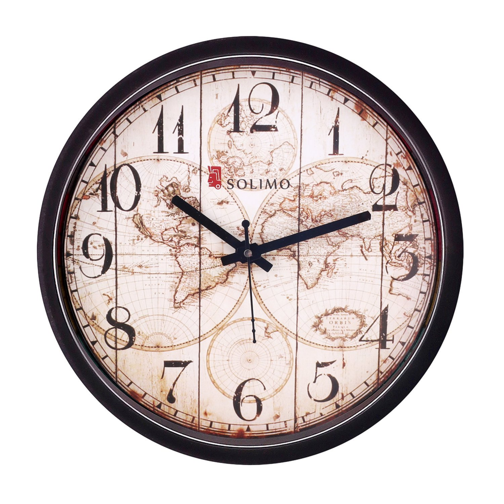 Solimo 12-inch Wall Clock