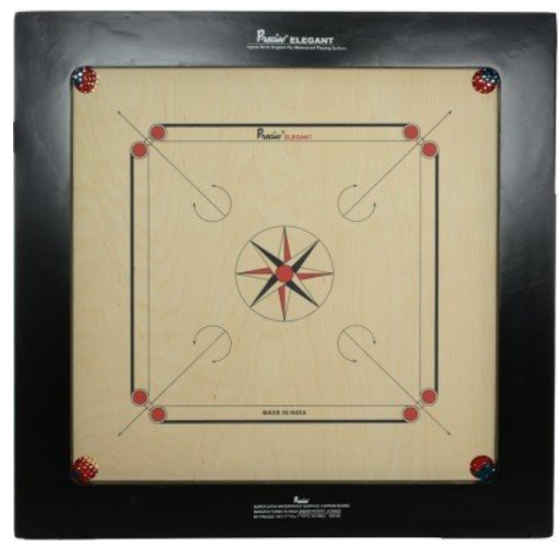 Precise Carrom Board Game Ply Wood Bulldog 20Mm with Coin